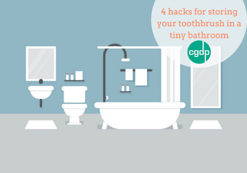 4 hacks for storing your toothbrush in a tiny bathroom